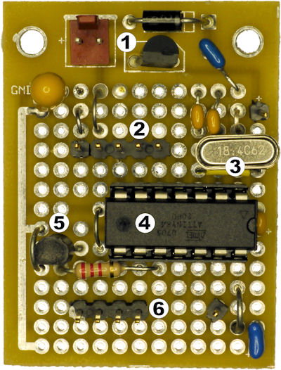 Circuit board with prototype area