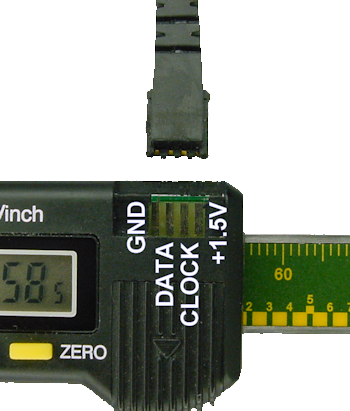 Pinout of imported digital caliper