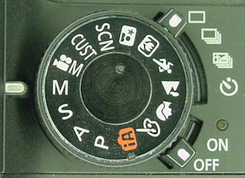 Lumix DMC-GH1 mode dial on manual