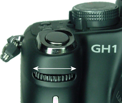 Lumix GH1 front dial