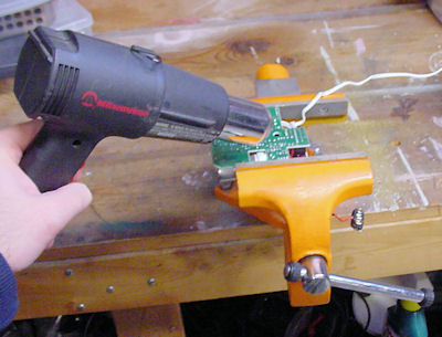 Heat gun for mass desoldering