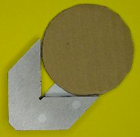 Place the circle firmly against the right-angle sides