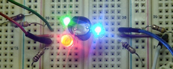 Color sensor fully powered.