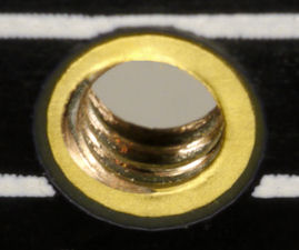 Threaded PCB hole for motor mount screws