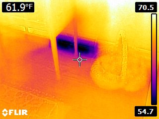 Air conditioning vent infrared