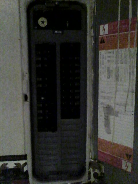 Circuit breaker panel visible