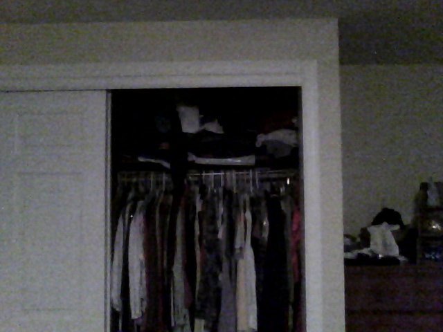 Closet near outside wall poorly insulated visible