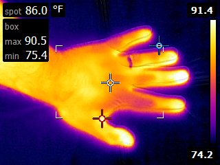 Hand print making infrared