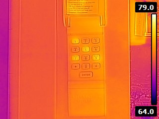 Infrared camera reveals security code