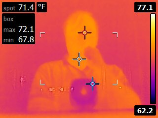 Infrared selfie in window reflection