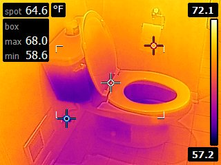 Toilet infrared