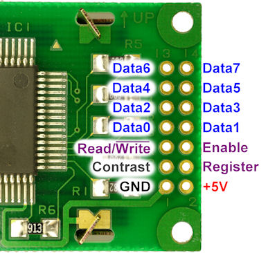 Pinouts for standard 14 pin LCD display