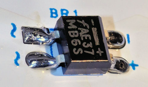 MB6S bridge rectifier