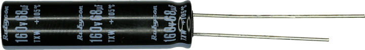 Rubycon 160V 68uF capacitor color