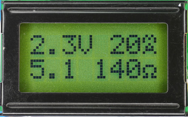 LCD Display with voltage current and resistance