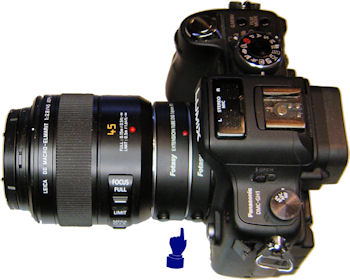 Panasonic DHC GH1 with extension tubes and macro lens