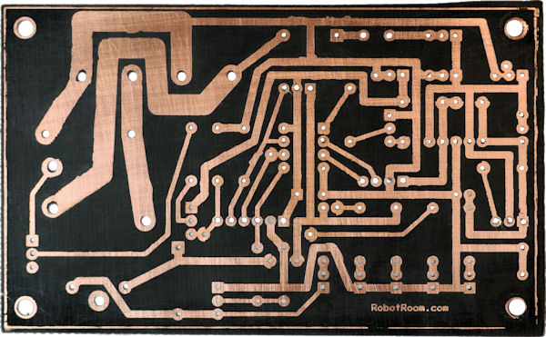 Rocket launcher single sided board bottom etched copper
