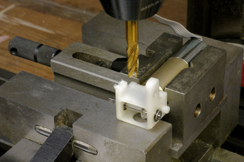 Milling away a portion of the right angle gearbox bracket