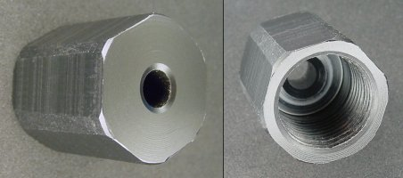 Replacement compression nut made from Delrin