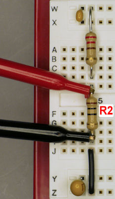 Measuring the voltage drop across the unknown resistor