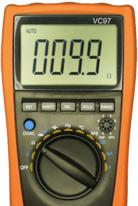 Multimeter measuring unknown low resistance