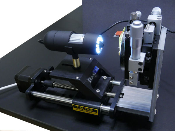 Cheap 5MP USB microscope mounted on StackShot