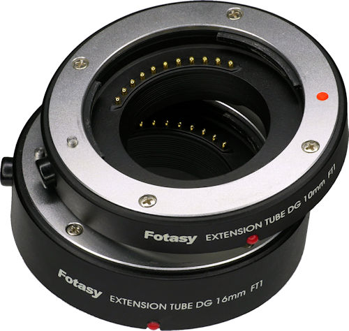 Fotasy extension tubes for increased magnification