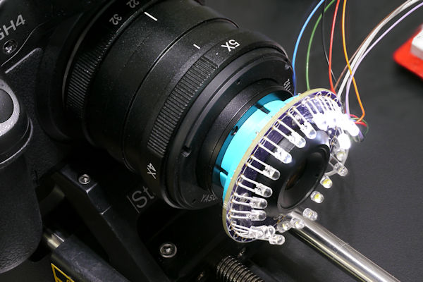 Homemade ring light with selectable LEDs