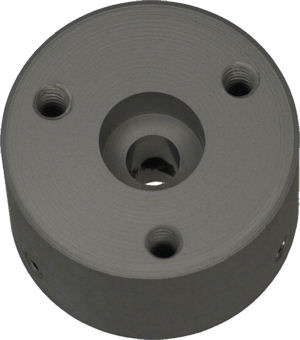Motor coupler machined from CPVC plastic