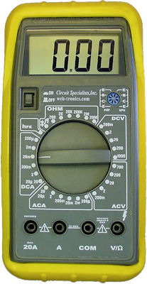 Circuit Specialists Web Tronics give-away digital multimeter