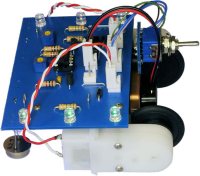 Rear wheel drive robot with blue printed circuit board