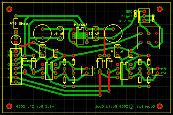 Finished circuit on Copper Connection software