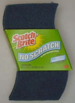 Scotch Brite No-Scratch multi-purpose scour pads.