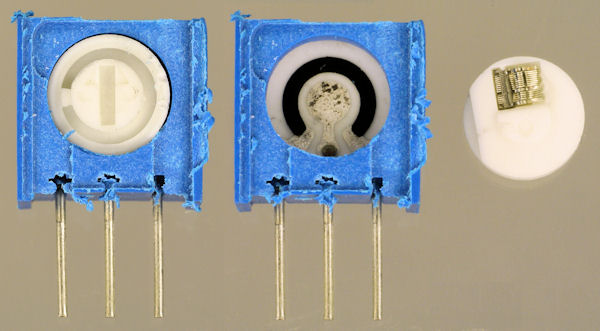 Inside single turn potentiometer