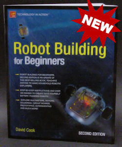 Robot Building for Beginners, Second Edition - Cover with new burst