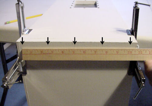 Marking hole positions with a ruler
