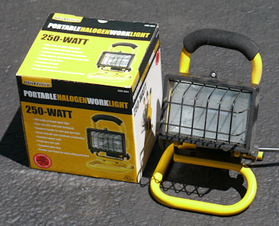Portable halogen work light WorkForce #429 804