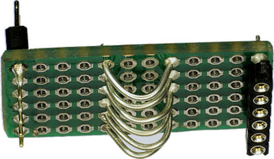 Motor driver offset board with test point hook loops for debugging