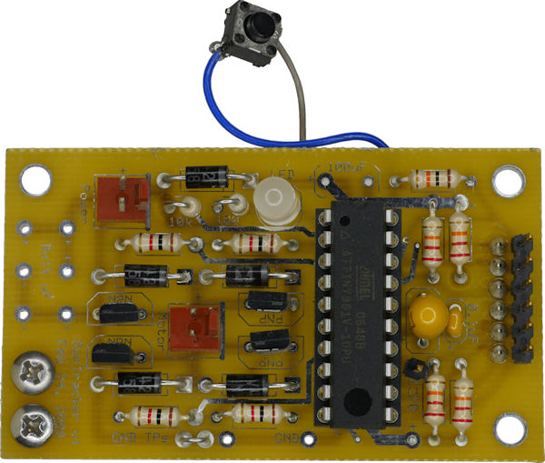 Sun Tracker motherboard with BJT transistor H bridge