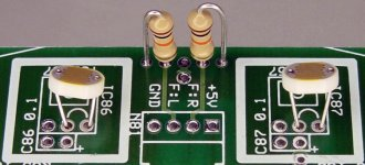 Photoresistors and resistors optionally replacing TSL257s and capacitors on the floorboard