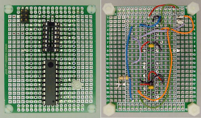 Thumbnail image of an STK505 replacement implemented on a breadboard.