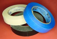 White, black, and blue masking tape