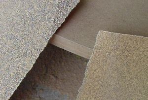 Coarse and fine grit sandpaper