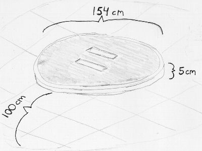 Broad view of dimensions of an International Robot-Sumo ring