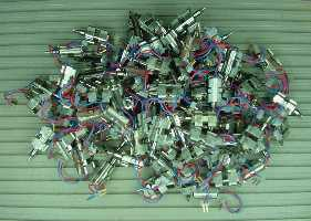 One hundred tiny motors, ready for robots