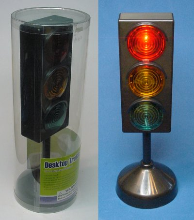 8.5-inch tall decorative stop light.