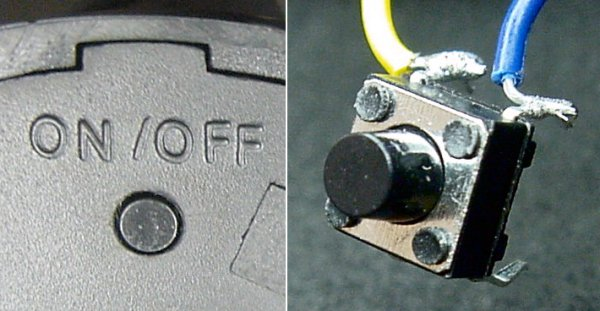 Soft on/off power pushbutton.