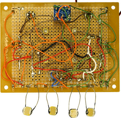 Point to point wiring on Wavy robot circuit board