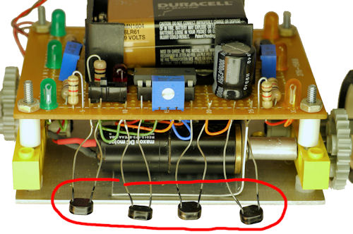 Thick unprotected photoresistor line sensors