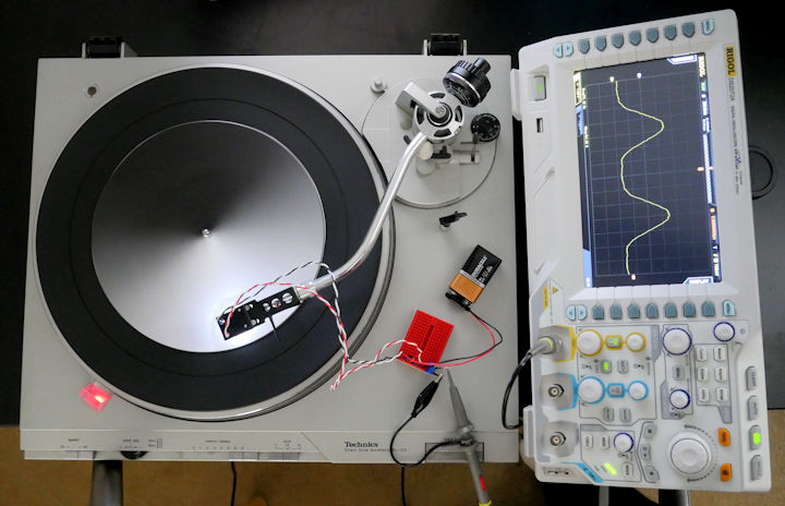 Repurposed turntable spinning waveform disc